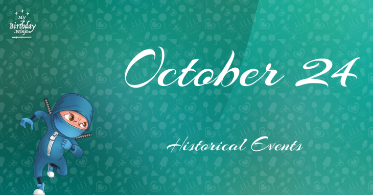 October 24 Birthday Events Poster