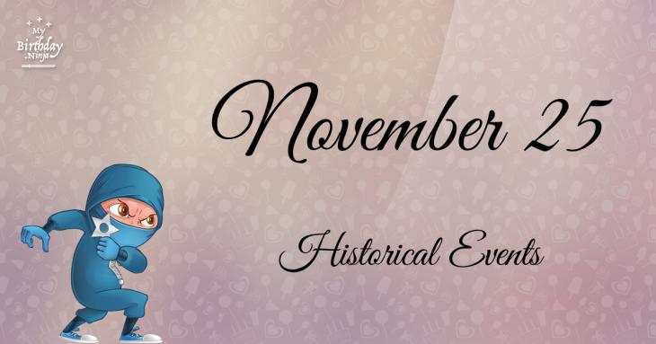 November 25 Birthday Events Poster