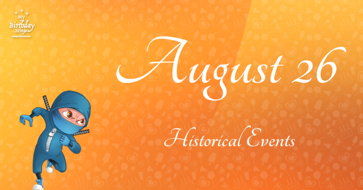 August 26 Birthday Events Poster
