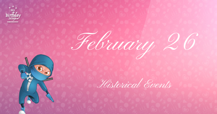 February 26 Birthday Events Poster