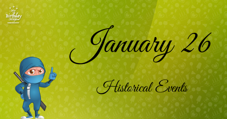 January 26 Birthday Events Poster