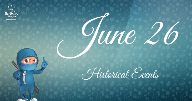 June 26 Birthday Events Poster