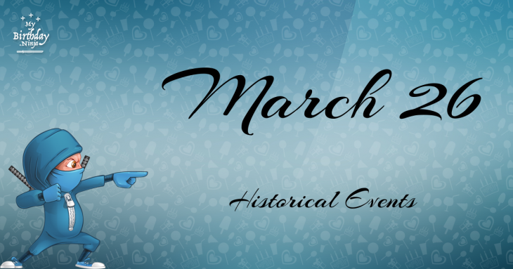 March 26 Birthday Events Poster