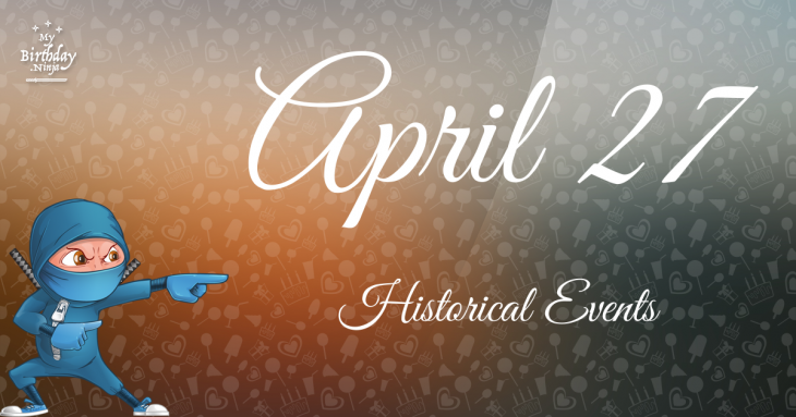 April 27 Birthday Events Poster