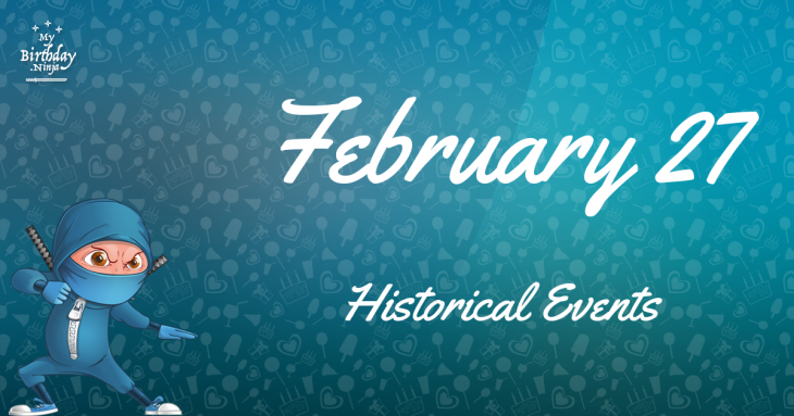 February 27 Birthday Events Poster