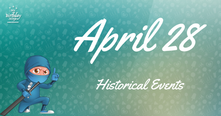 April 28 Birthday Events Poster