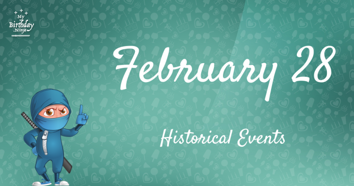 February 28 Birthday Events Poster