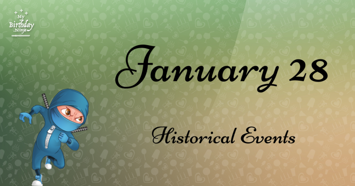 January 28 Birthday Events Poster