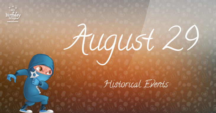 August 29 Birthday Events Poster