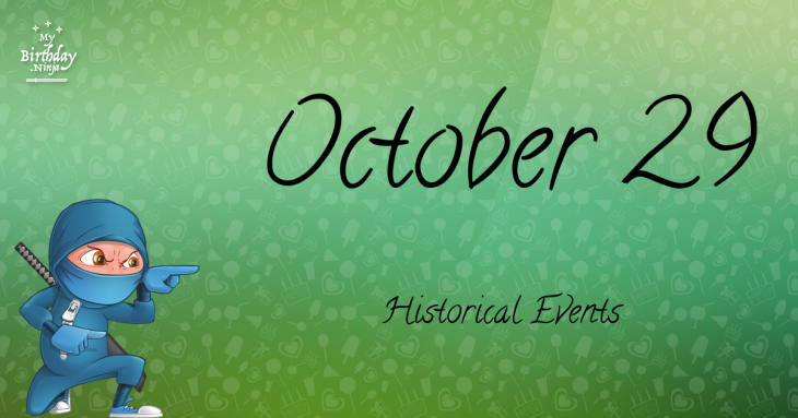 October 29 Birthday Events Poster