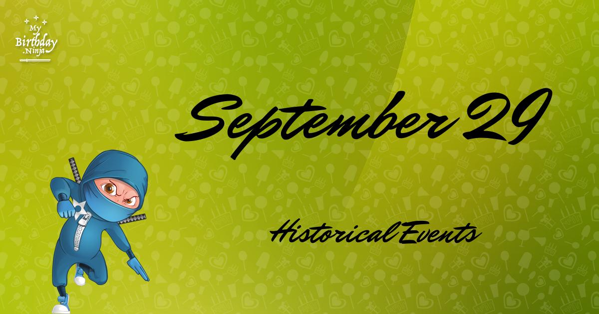 September 29 Events Birthday Ninja Poster