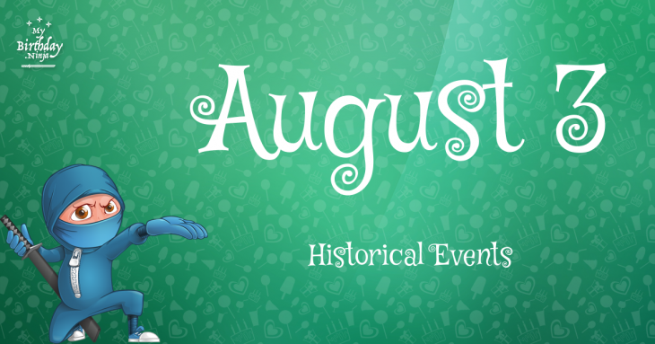 August 3 Birthday Events Poster