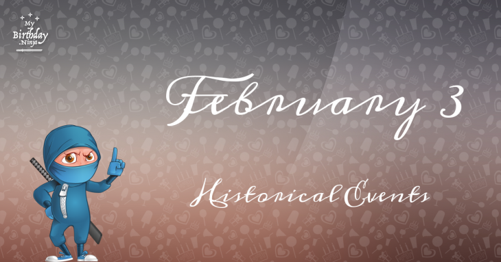 February 3 Birthday Events Poster