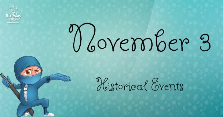 November 3 Birthday Events Poster