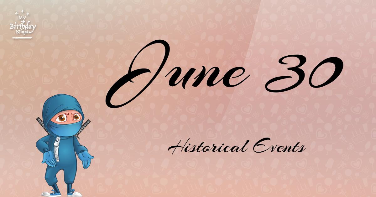 June 30 Events Birthday Ninja Poster
