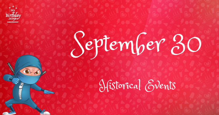 September 30 Birthday Events Poster