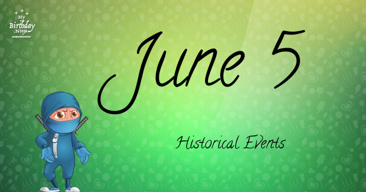 June 5 Birthday Events Poster