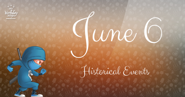 June 6 Birthday Events Poster
