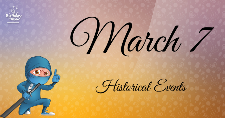 March 7 Birthday Events Poster
