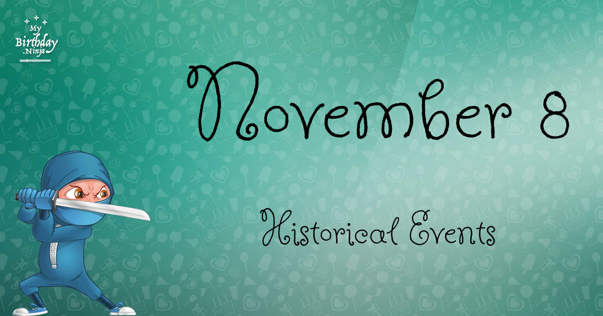 November 8 Events Birthday Ninja Poster