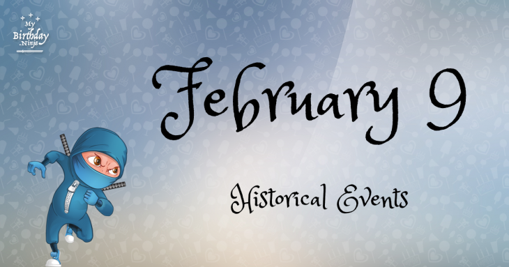 February 9 Birthday Events Poster