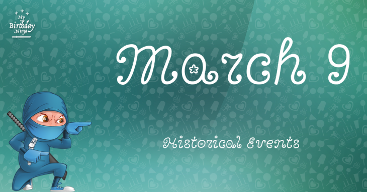 March 9 Birthday Events Poster