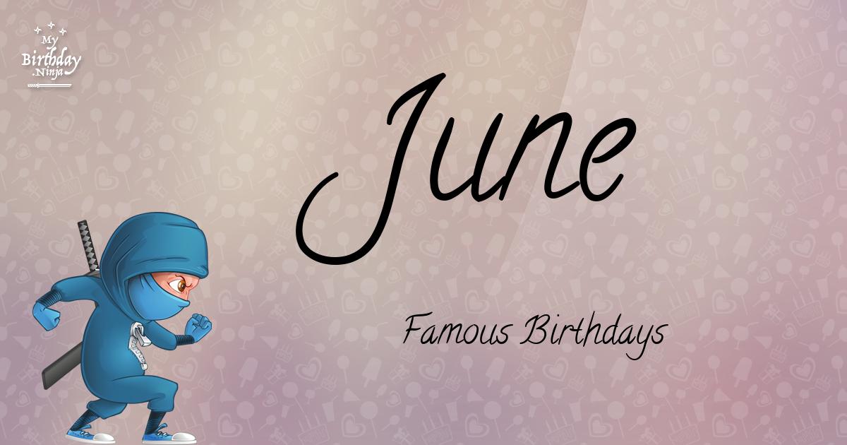 June Famous Birthdays Ninja Poster