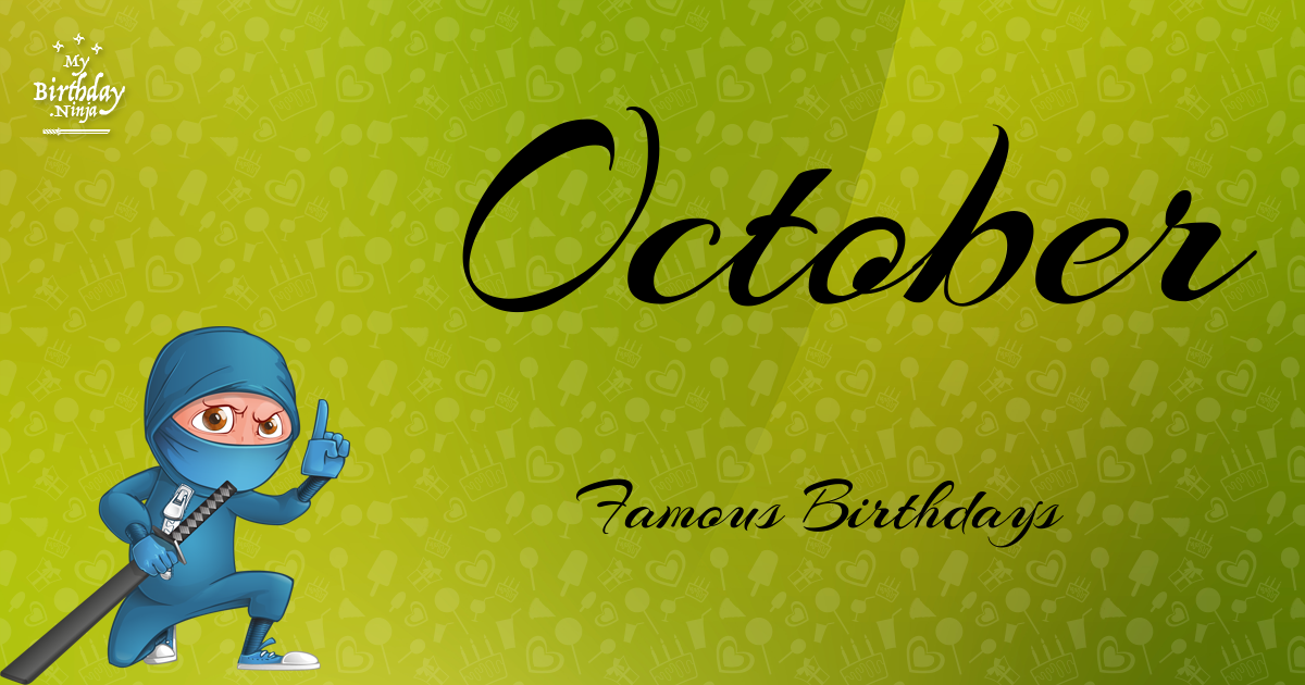 October 30 Birthdays Of Famous People - Characteristics ...