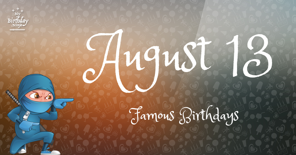 Famous August Birthdays from Holiday Insights