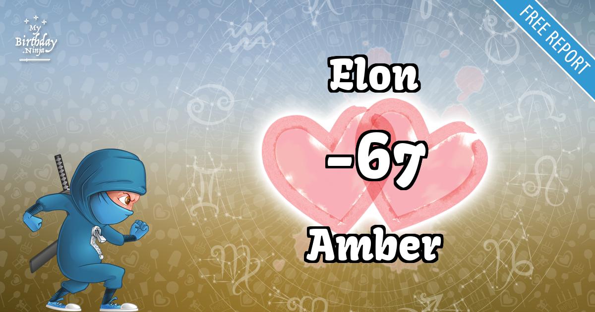 Elon and Amber Love Match Score